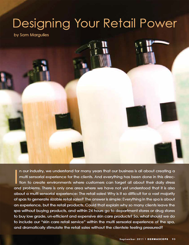 Designing your Spa Retail Power